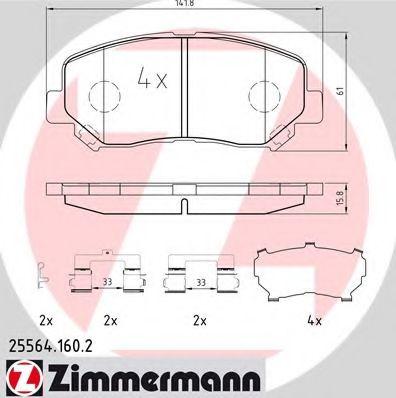 Гальмівні колодки перед Mazda CX-5 ZIMMERMANN 255641602