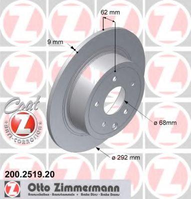 Гальмiвнi диски ZIMMERMANN 200251920