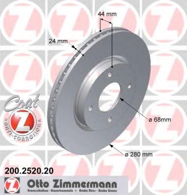 Гальмiвнi диски ZIMMERMANN 200252020