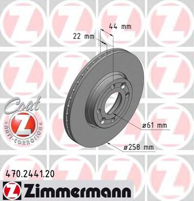 Гальмiвнi диски ZIMMERMANN 470244120