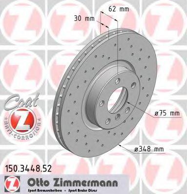 Фото - Диск гальмівний ZIMMERMANN - 150344852