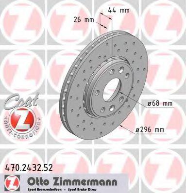 Диск гальмівний ZIMMERMANN арт. 470243252