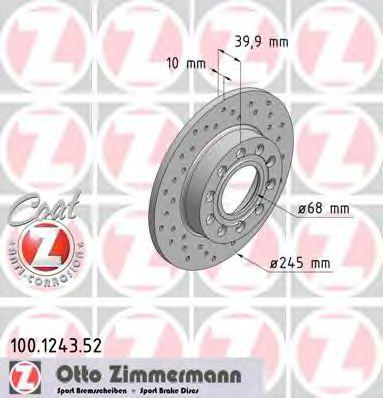 Диск тормозной AUDI A4  00-08 TY MINTEX арт. 100124352