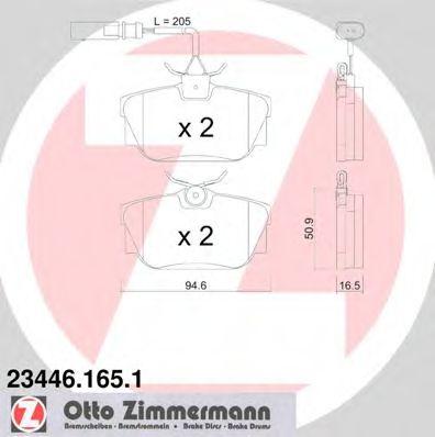 Комплект тормозных колодок, дисковый тормоз  арт. 234461651