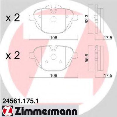 Гальмівні колодки зад BMW F10 20-35i/X3 (F25) 20-3 ZIMMERMANN 245611751