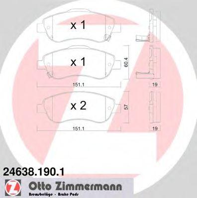 Гальмівні колодки перед Honda CR-V с 2007г ZIMMERMANN 246381901