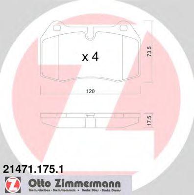 Гальмiвнi колодки дисковi  арт. 214711751