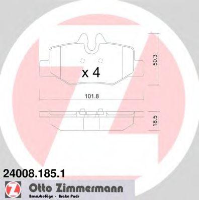 Гальмівні колодки зад Mercedes Vito W639 ZIMMERMANN 240081851