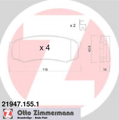 Гальмівні колодки зад Toyota Land Cruiser Prado/Mi ZIMMERMANN 219471551
