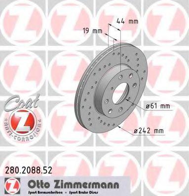 Тормозной диск  арт. 280208852