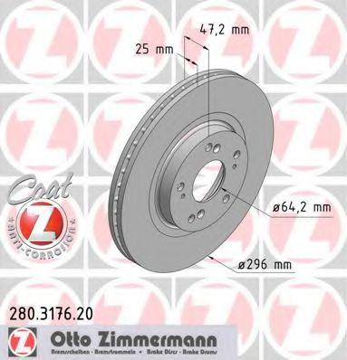 Гальмiвнi диски ZIMMERMANN 280317620