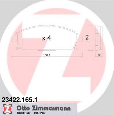 Гальмiвнi колодки дисковi  арт. 234221651