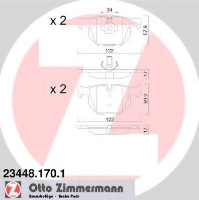 Гальмівні колодки зад bmw 3 (e90, e91, e92),x1 (e8 ZIMMERMANN 234481701