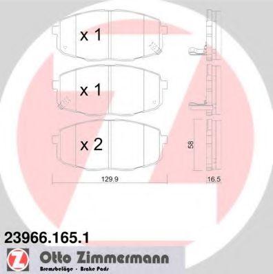 Гальмівні колодки перед Kia Ceed/Carens/Hyundai i3 ZIMMERMANN 239661651