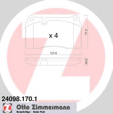 Гальмівні колодки дискові пер VW Touareg I/II 04- ZIMMERMANN 240981701
