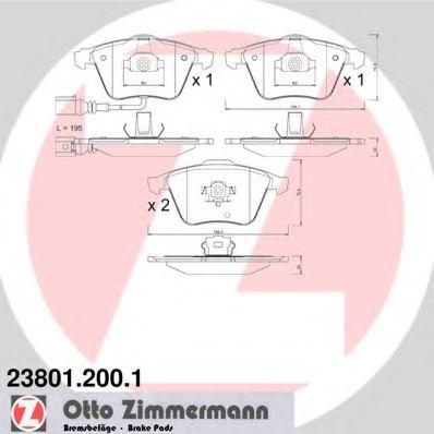 Гальмівні колодки Audi/VW 05-> ZIMMERMANN 238012001