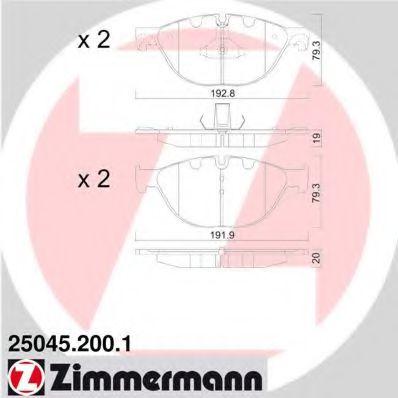 Гальмівні колодки перед BMW 5 F10 10- ZIMMERMANN 250452001