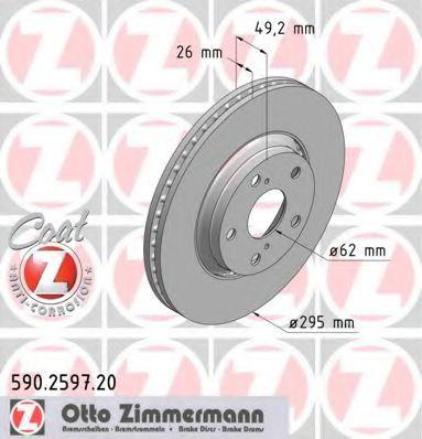 Гальмiвнi диски ZIMMERMANN 590259720