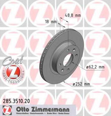 Фото - Гальмiвнi диски ZIMMERMANN - 285351020