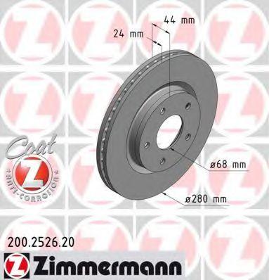 Гальмiвнi диски ZIMMERMANN 200252620