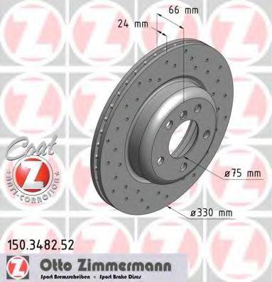 Диск тормозной ZIMMERMANN 150348252