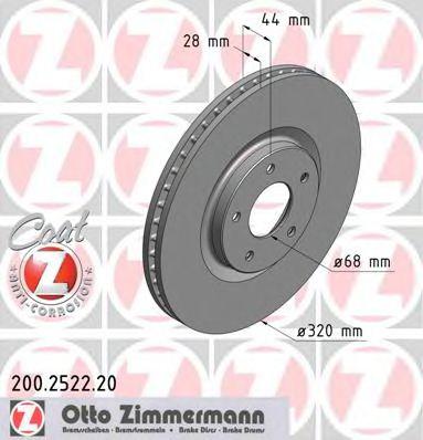Гальмiвнi диски ZIMMERMANN 200252220