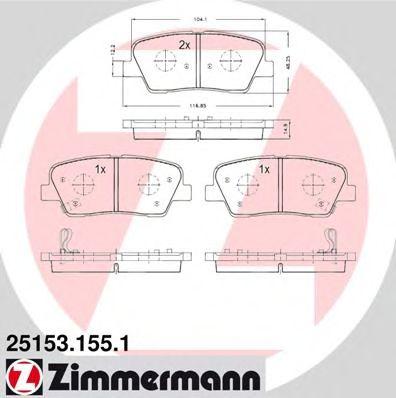 Колодки гальмівні дискові  арт. 251531551