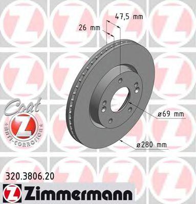 Гальмівний диск перед вент Kia Ceed/Magentis/Sport  арт. 320380620