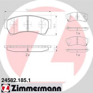 Гальмівні колодки перед Mazda6 18-25i с 2007г ZIMMERMANN 245821851
