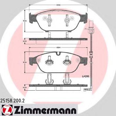 Гальмівні колодки дискові перед Audi A6/A6/S6 IV ( ZIMMERMANN 251582002