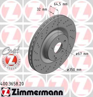 Гальмiвнi диски ZIMMERMANN 400365820