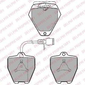 DELPHI AUDI Тормозные колодки передние A8 2.5TDI-3.7 -02 DELPHI LP1024