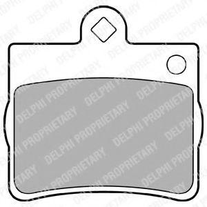 DELPHI DB Тормозные колодки задн.W124/202 1,8/2,0/2,2 92- DELPHI LP1402