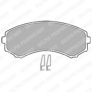 Гальмівні колодки, дискові  арт. LP1462
