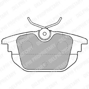 Тормозные колодки  арт. LP1472
