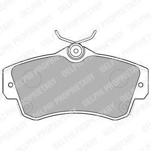 DELPHI CHRYSLER Тормозные колодки передн.PT Cruiser 00- DELPHI LP1522