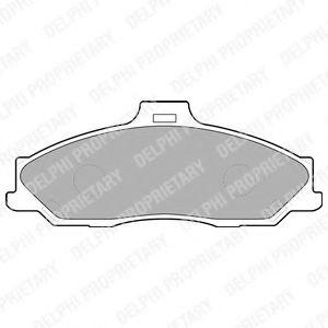 Комплект тормозных колодок, дисковый тормоз  арт. LP1555