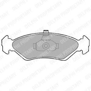 Гальмівні колодки, дискові  арт. LP1603