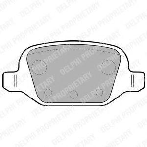 Комплект тормозных колодок, дисковый тормоз  арт. LP1678