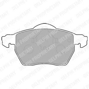 DELPHI VOLVO Тормозные колодки передн.V70 96- DELPHI LP1687