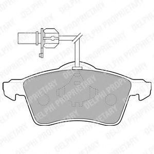DELPHI VW Тормозные колодки передн. T4 96- (с датч.) DELPHI LP1707