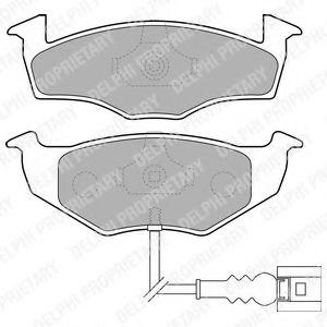 Brake pad set DELPHI LP1709