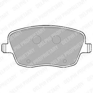 Brake pad set DELPHI LP1728