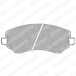 Гальмівні колодки, дискові  арт. LP1773