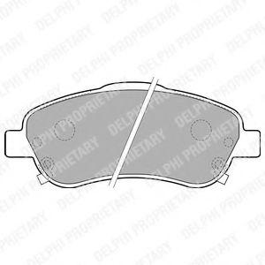 Brake pad set DELPHI LP1786