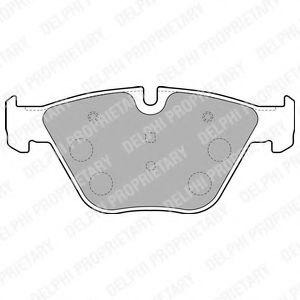 DELPHI BMW Тормозные колодки передн.7 E65 02- DELPHI LP1794