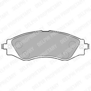 DELPHI CHEVROLET Тормозные колодки передн. Epica 06- DELPHI LP1816