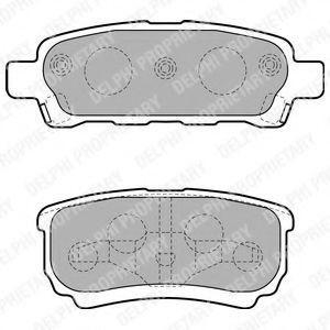 Гальмівні колодки, дискові  арт. LP1852