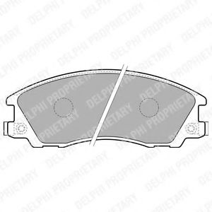 Комплект тормозных колодок, дисковый тормоз  арт. LP1853