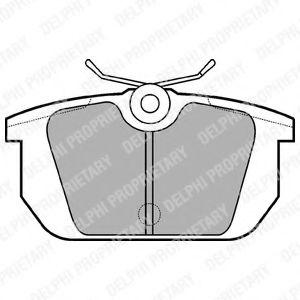 Гальмівні(тормозні) колодки  арт. LP522